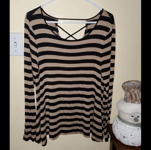 Womens Cable & Gauge Swing shirt Size L